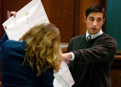 Kathryn Benson questions Ryan Ferguson during 2005 trial
