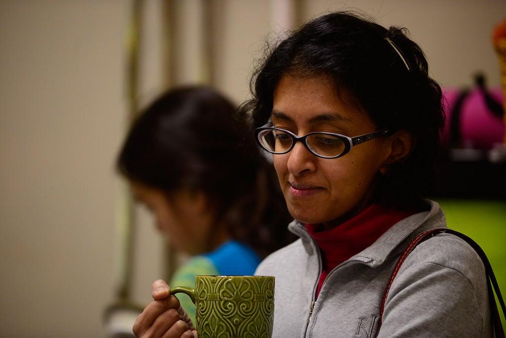 Shruti Rajan holds her tea