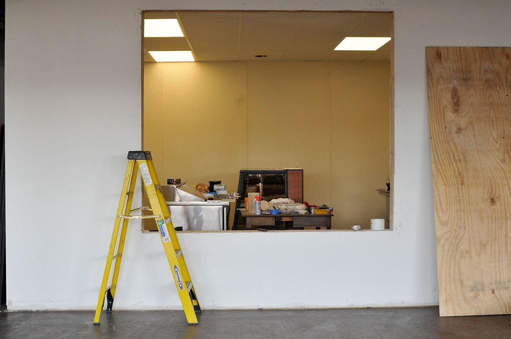 The kitchen at Love Coffee is being renovated Tuesday
