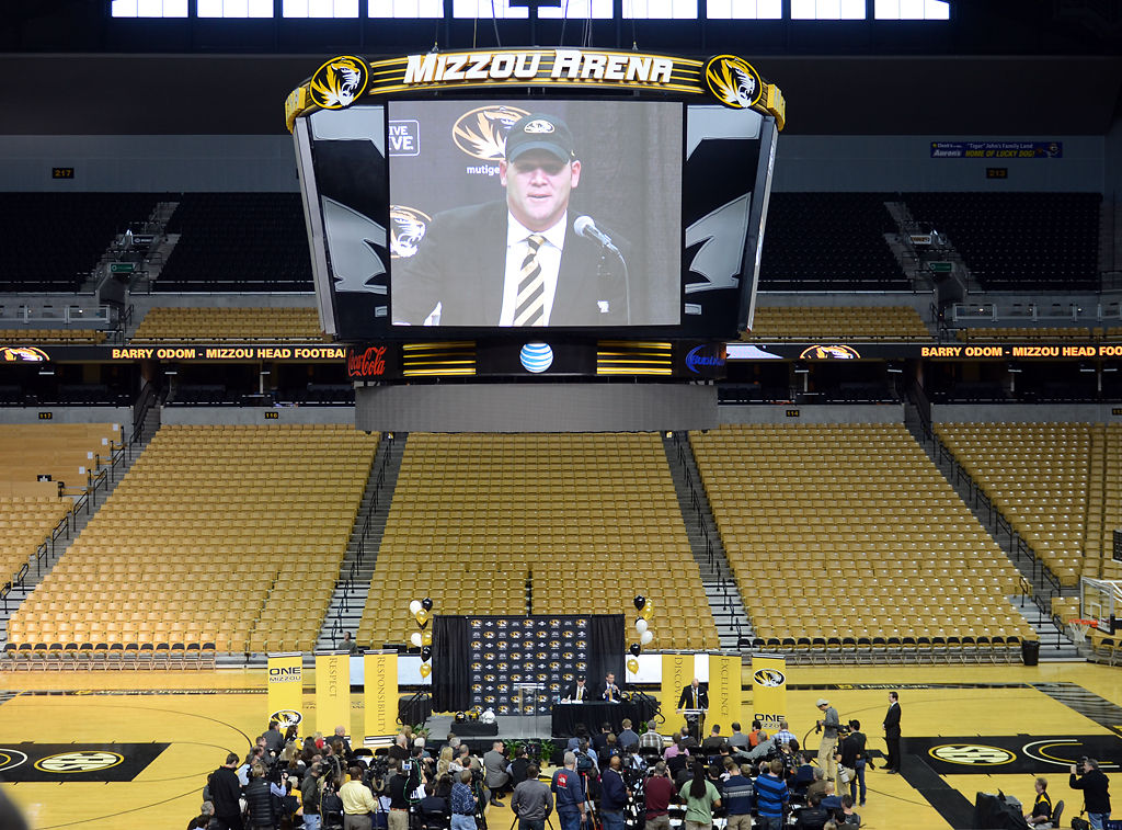 Barry Odom hosts a news conference