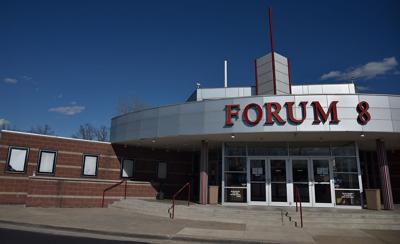 Forum 8 movie theater sits empty