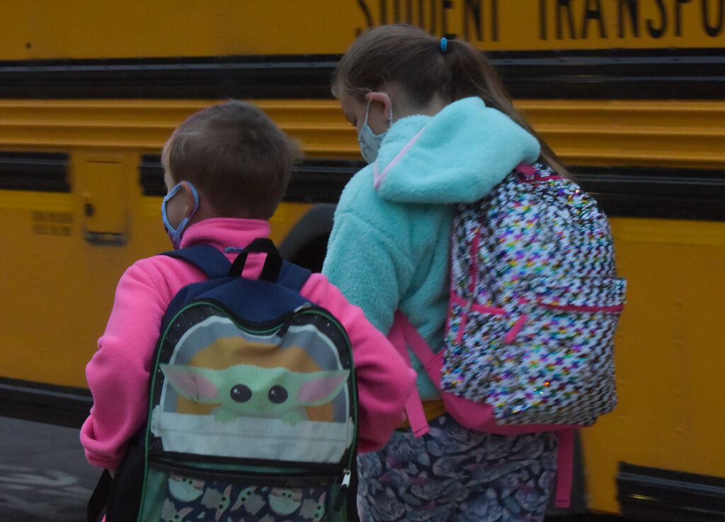 Ridgeway Elementary students return to school for this first time this academic year