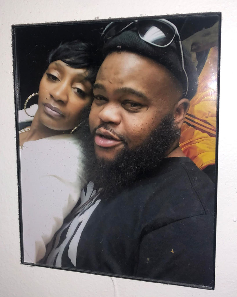 A picture of Antonio Houston and his fiancée