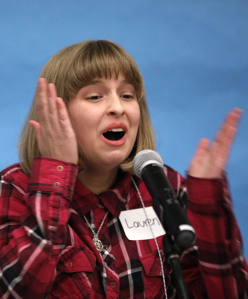 Lauren Holsapple, a home-schooled eighth-grader