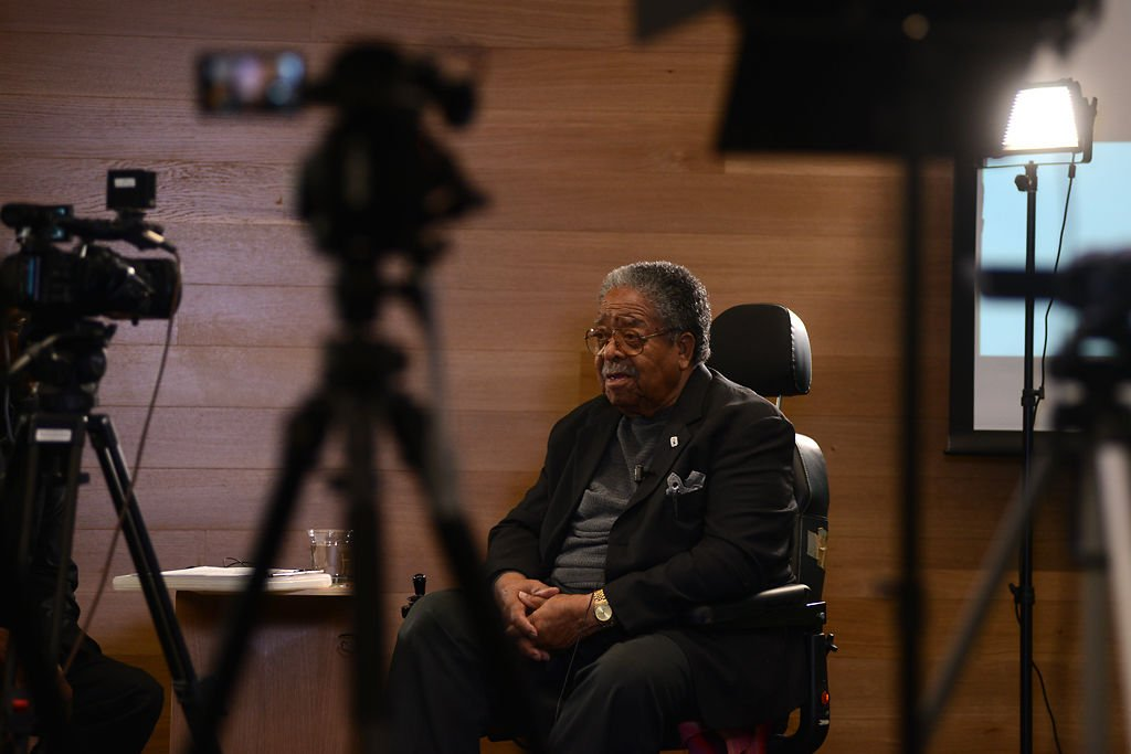 Sehon Williams, 97, speaks at the segregation lecture series on Tuesday