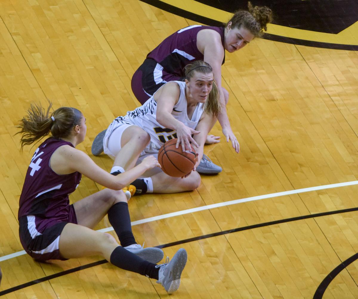 Missouri guard Haley Troup holds onto the ball (copy)