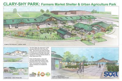 Clary-Shy Park: Farmers Market and urban agriculture park design
