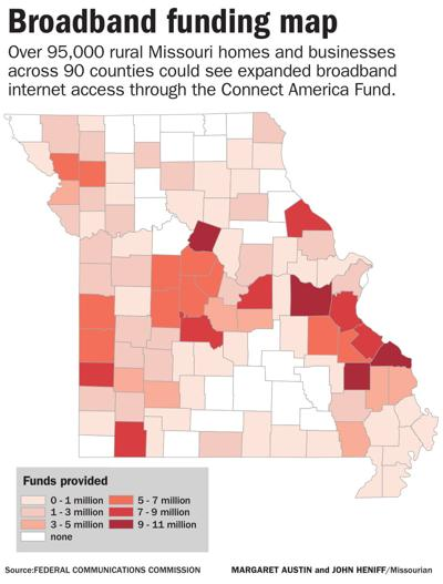 Broadband funding map