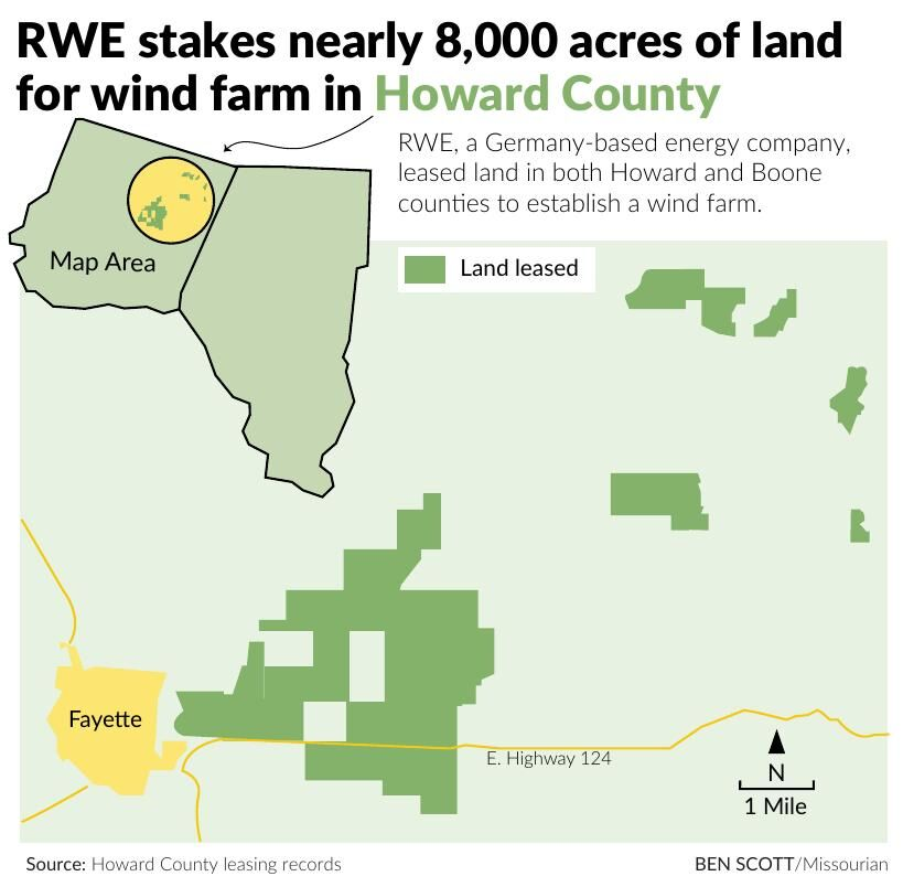 RWE stakes nearly 8,000 acres of land for wind farm in Howard County