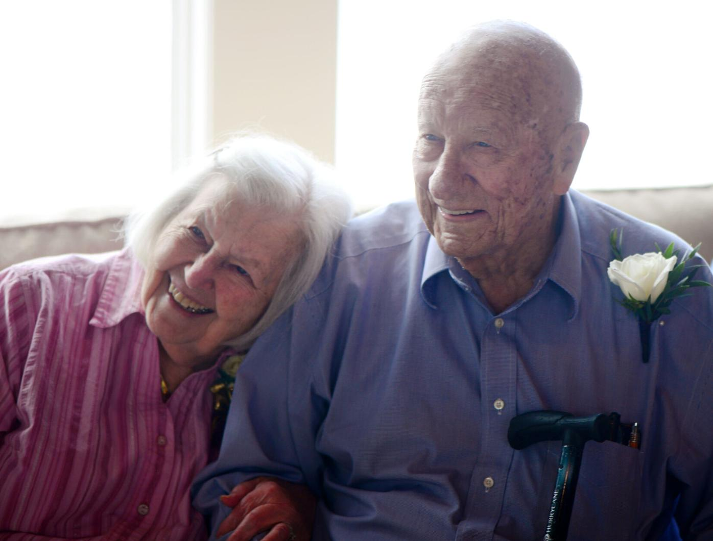 Bettie and Charlie Koelling celebrate their 75th wedding anniversary