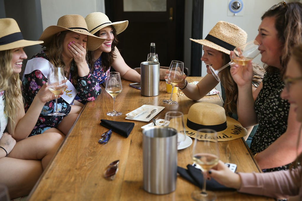 Brittney Pflueger's bachelorette party included a stop at Amigoni Urban Winery