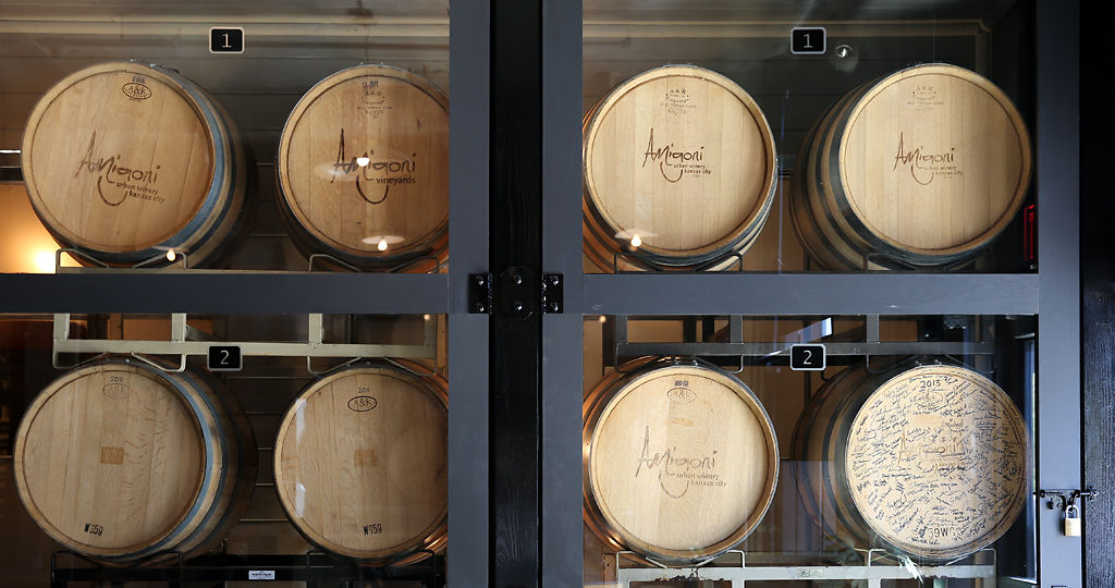 Amigoni Urban Winery produces 5,000 cases a year