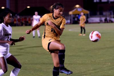 Missouri forward Julissa Cisneros competes for the ball (copy)