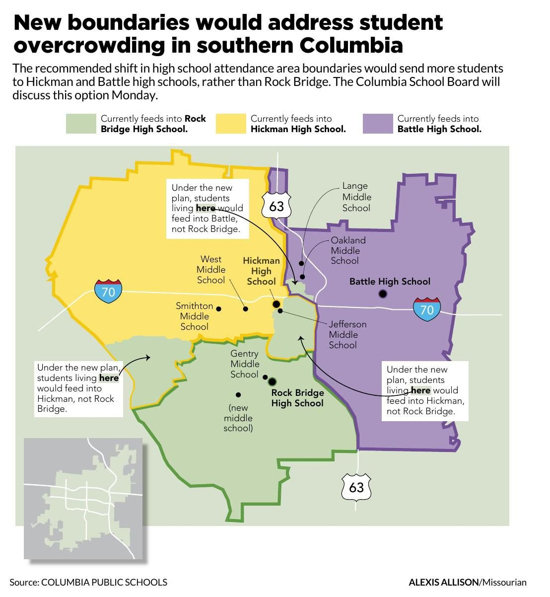 Tweaked \'option two\' attendance map to go before Columbia ...