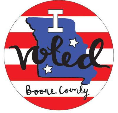 Pictured is an 'I Voted' sticker design that was created by Battle High School's Audrey Cornell
