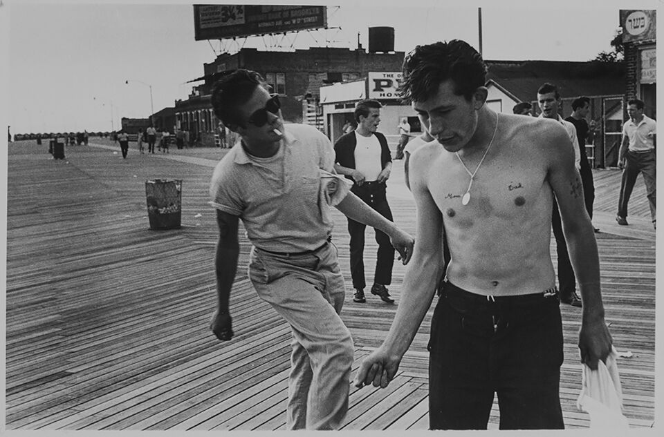 On the boardwalk at West 33rd Street, Coney Island