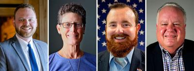 From left, Boone County Commission candidates Tristan Asbury, Janet Thompson, incumbent, Justin Aldred and Fred Parry.