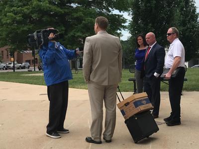Scott Jansen talks to media