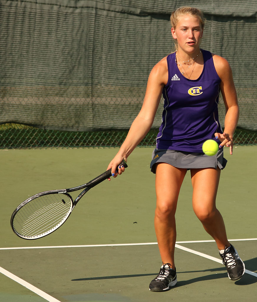 Jamie Barta plays for Hickman High School in their fourth game of the season