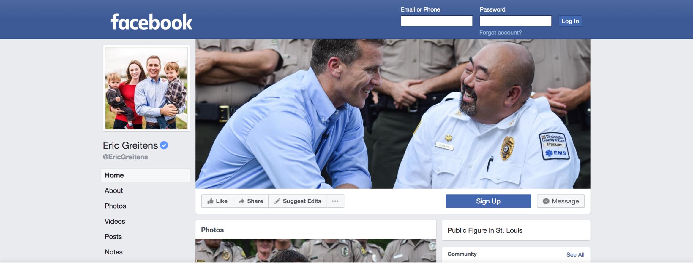 Gov. Eric Greitens' Facebook page