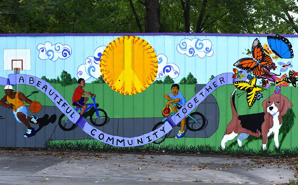 Community mural unveiled at optimist park local for Community mural