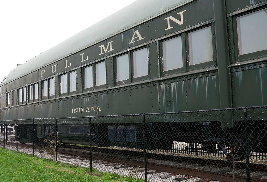 A Pullman car is on display