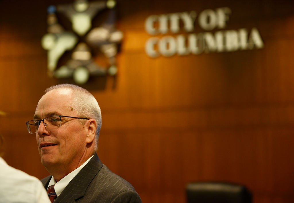 Mayor Brian Treece announced that John Glascock will be the new city manager (copy)