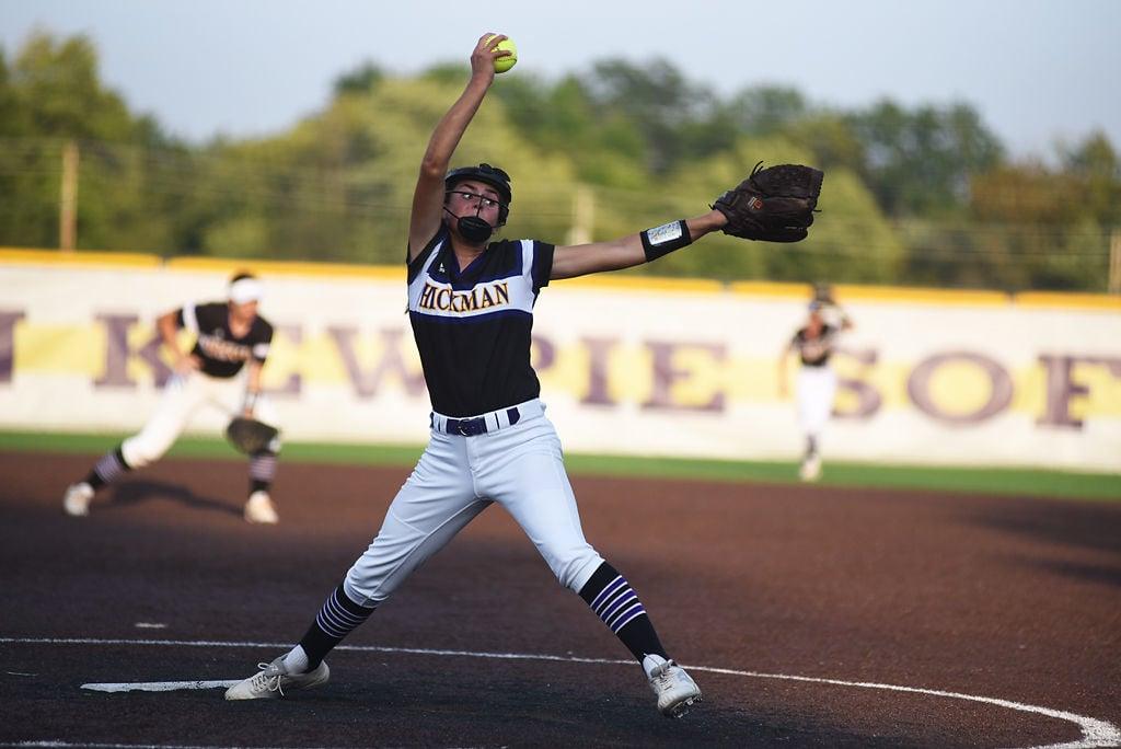 Abby Hurtado pitches for Hickman