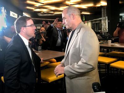 Eliah Drinkwitz speaks with Gary Pinkel