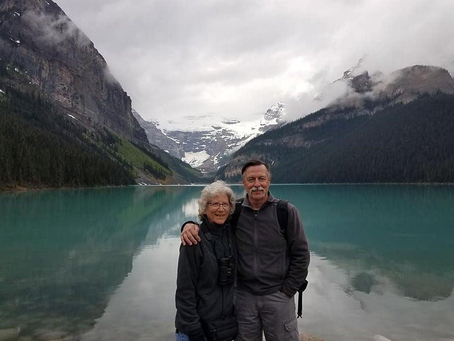 Rochelle Renken and Michael Huffman at Jasper National Park
