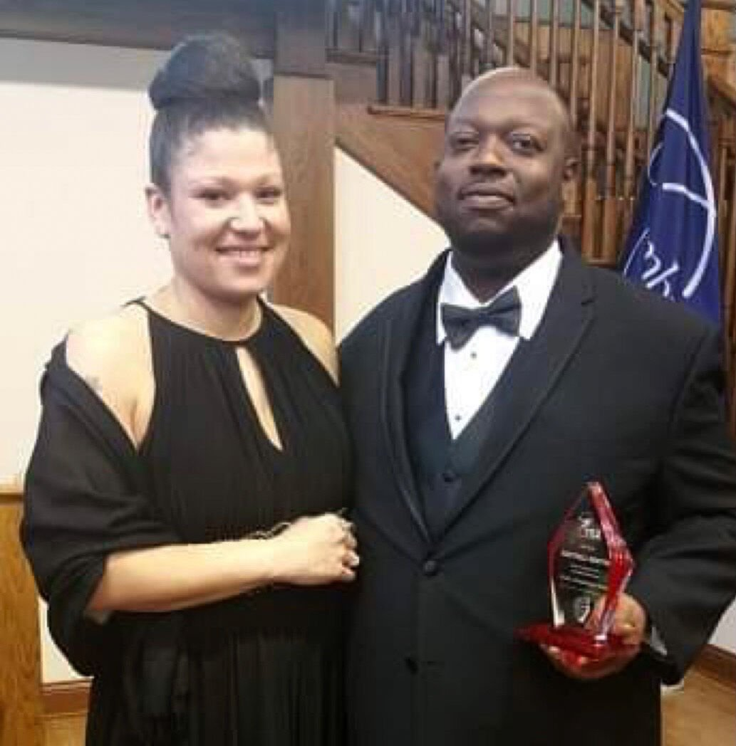 Kentrell Minton and his wife, Amber Minton