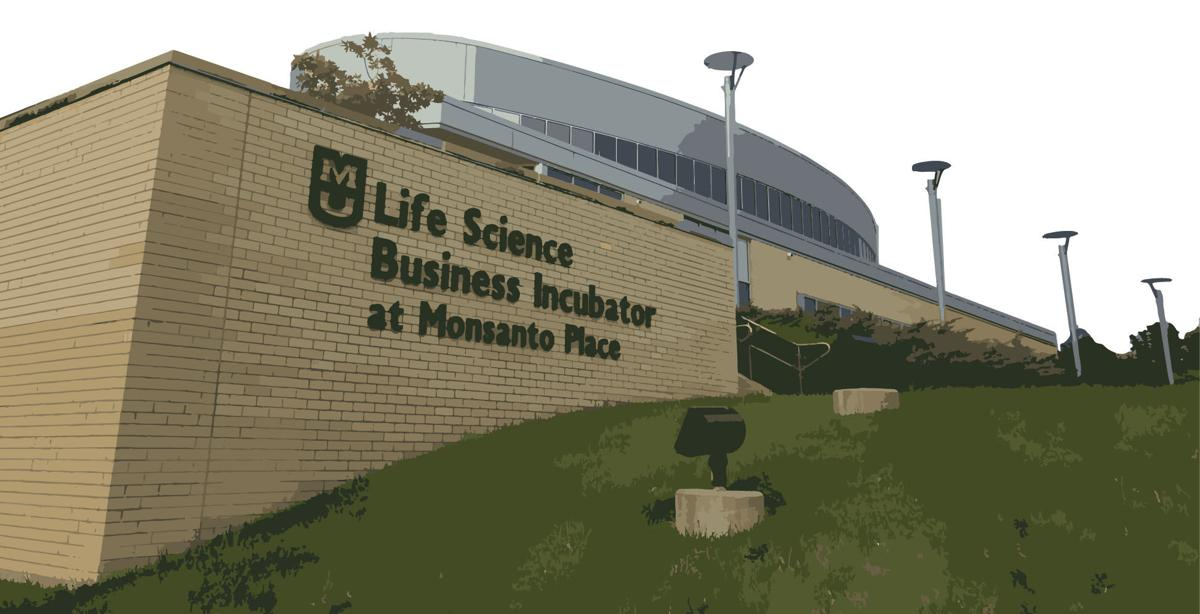 Life science building photo illustration
