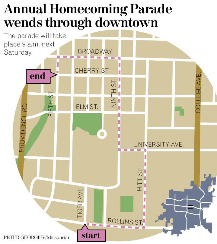 Annual Homecoming Parade wends through downtown