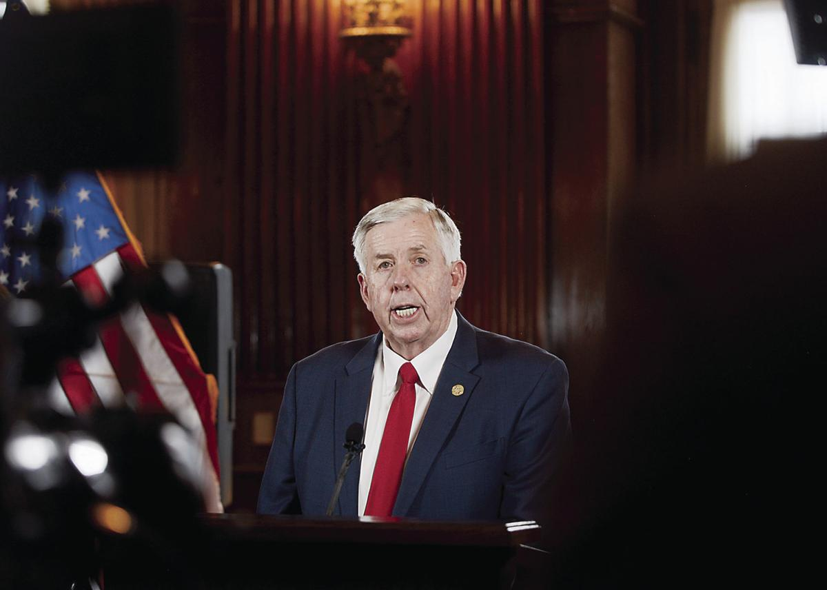 Mike Parson speaks