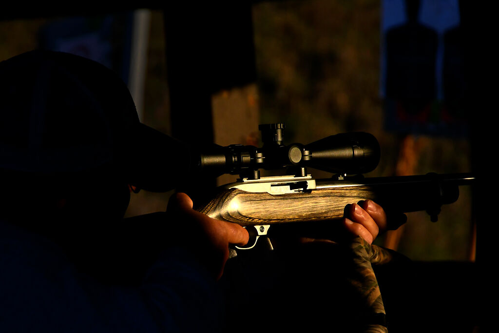 Nick Leslie practices his shooting