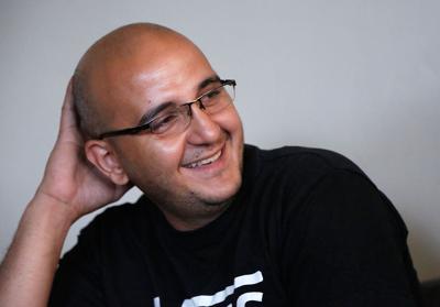 Ahmad Alkadah laughs