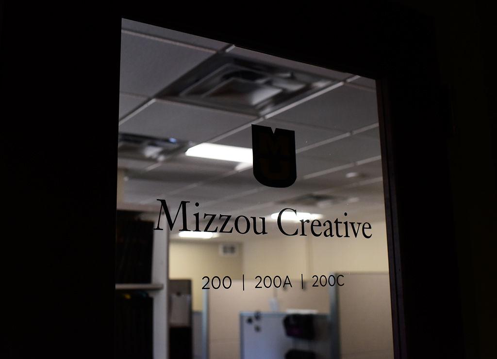 The office door of Mizzou Creative is unlit