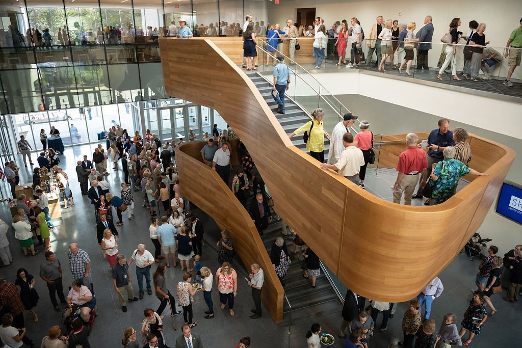 Natural light floods the atrium at the Center for Missouri Studies grand opening