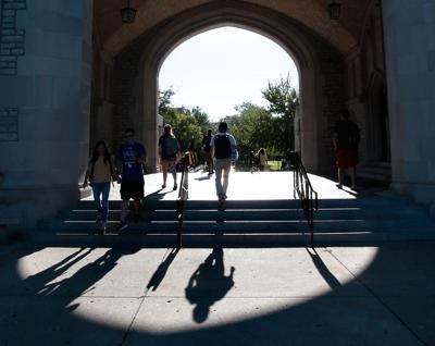 Students walk through Memorial Union