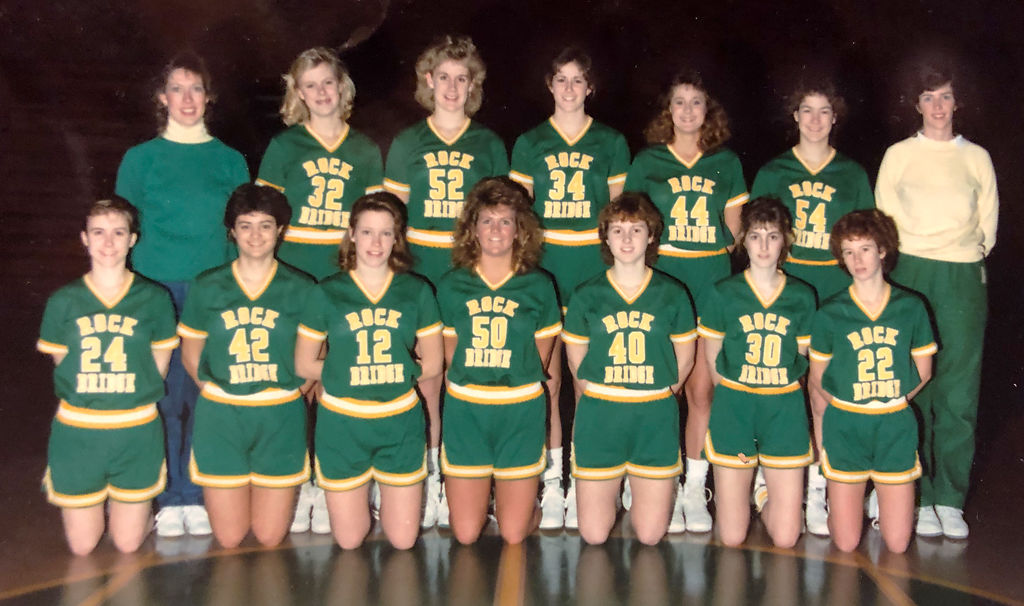 Rock Bridge High School girls basketball team in 1987