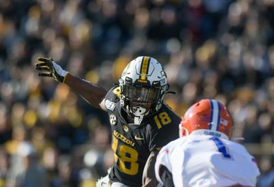 Missouri safety Joshuah Bledsoe pursues the ball