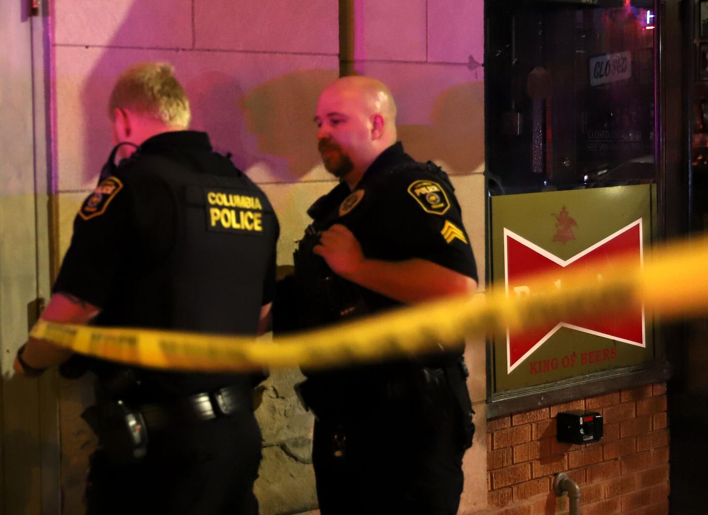 Columbia Police tape off Ninth street