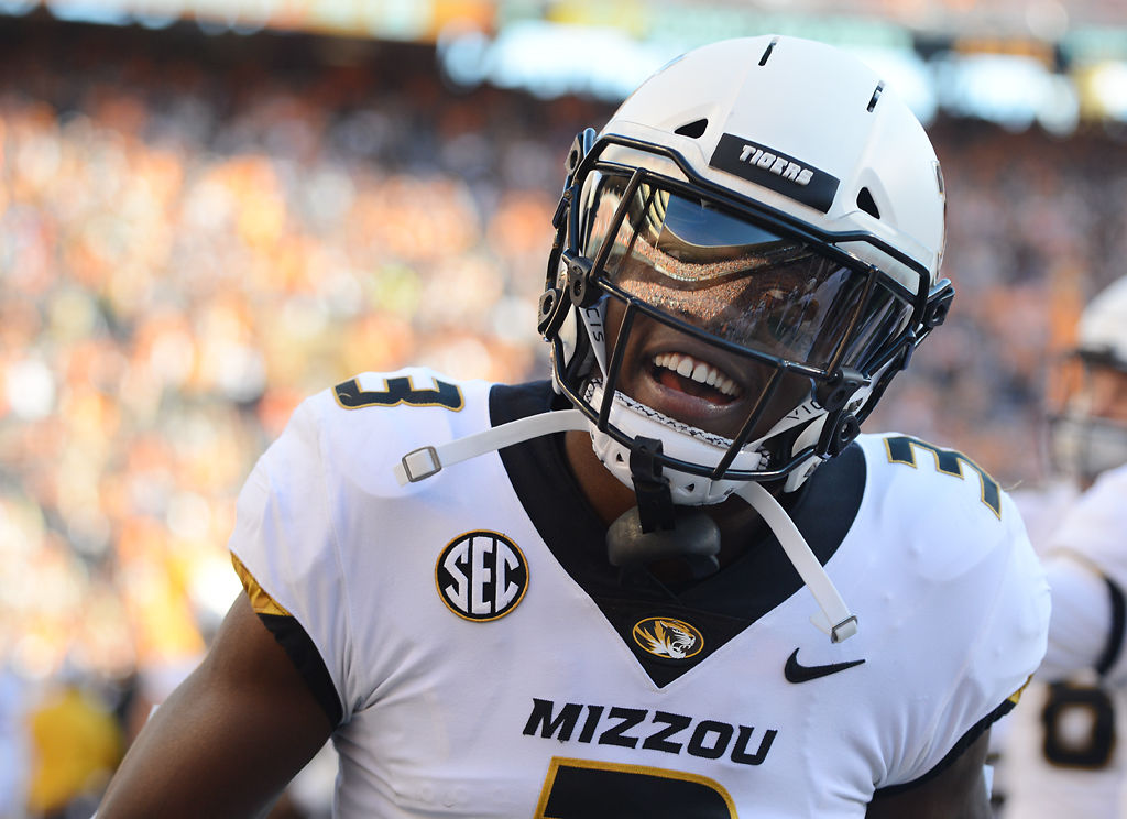 Missouri safety Ronnell Perkins laughs