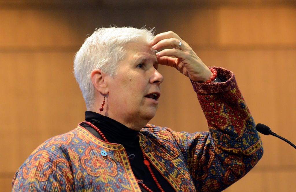 Linda Kaufman speaks at the Columbia Boone County Homelessness Summit