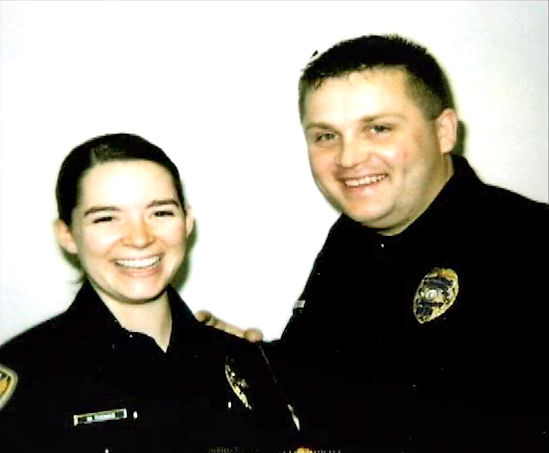 Officer Molly Bowden with her husband