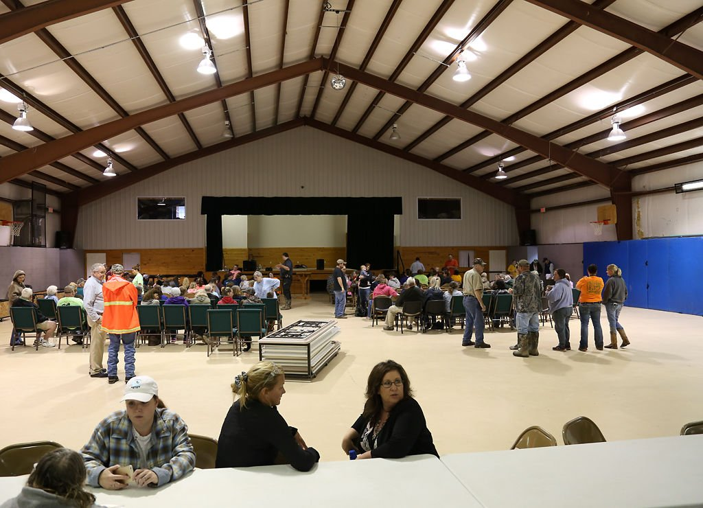 Community members discuss immediate and future plans for the town