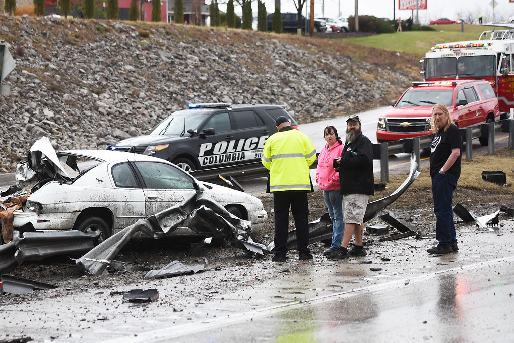 Two taken to hospital after crash with semi-trailer   Local