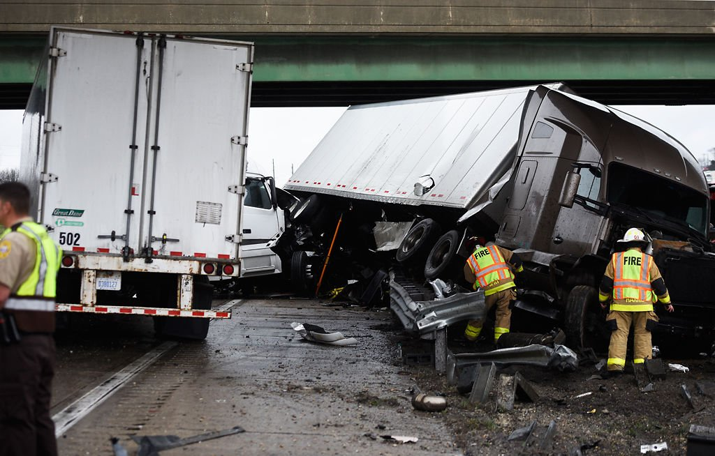 Two taken to hospital after crash with semi-trailer | Local