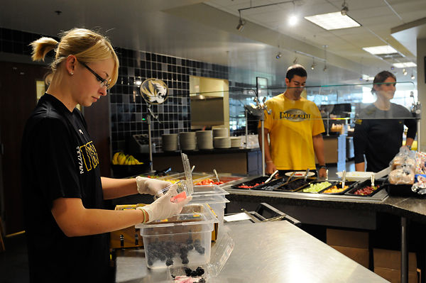 MU athletic dining hall serving more than burgers and fries