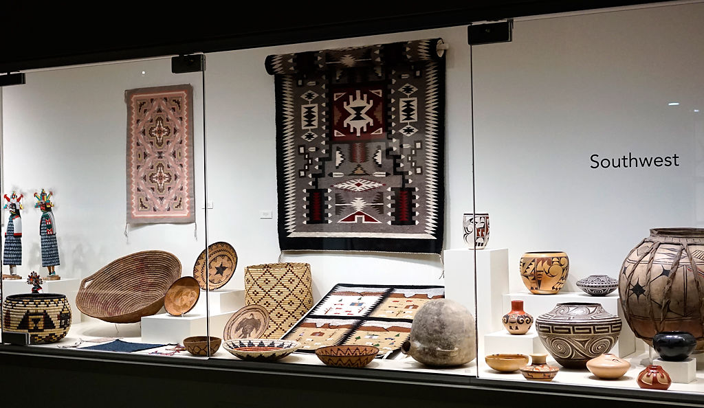 Artifacts display in the Southwest Exhibit at the Anthropology Museum
